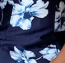 Sharon Dress - Navy floral