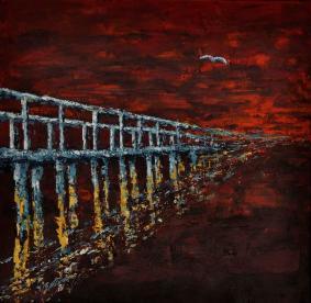 Híd a semmibe, 40 x 40 cm