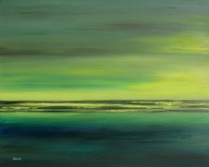 Zöld part, 80 x 100 cm