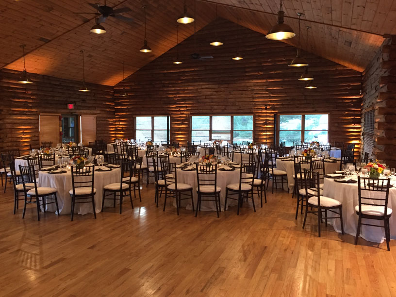 Wedding Uplighting Maryland Wedding DJ Lodge at Little Seneca Creek