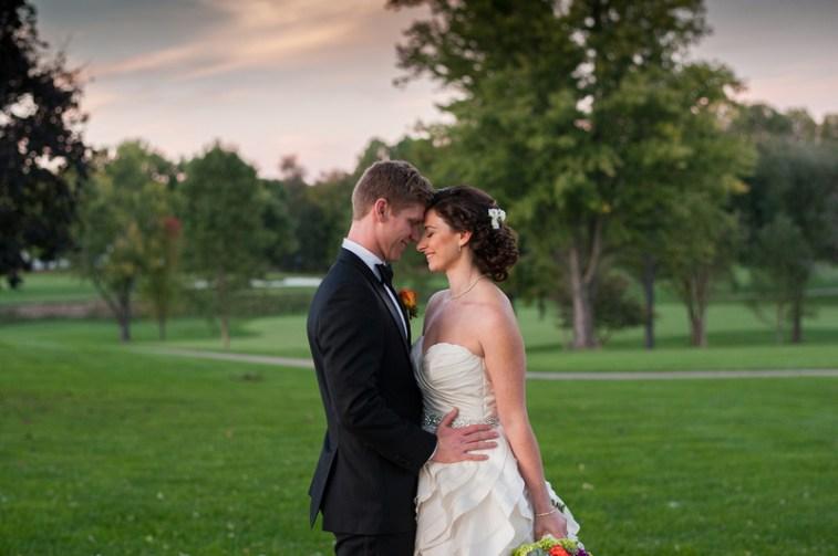 Golf Course Wedding Virginia Bride and Groom