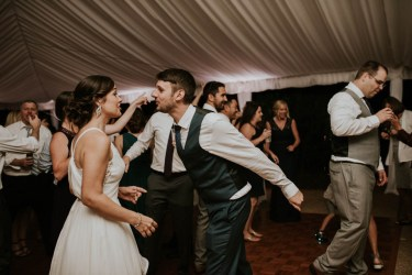 Bride and Groom on the Dance Floor