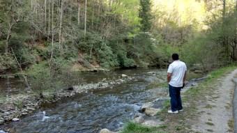 Jonathan along Little Pigeon River.