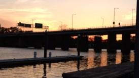 Sunset at the municipal wharf.