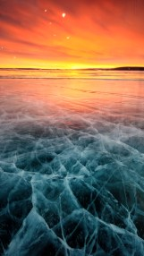 Ice on Lake Khuvsgul by Samuel Bitton