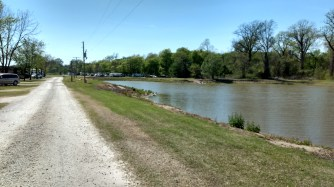 Nearby lake.