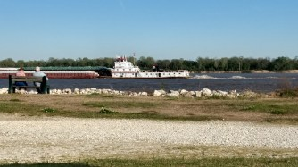 Barge on the river.