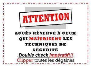 accès restrictif au mur à corde à Belcaire