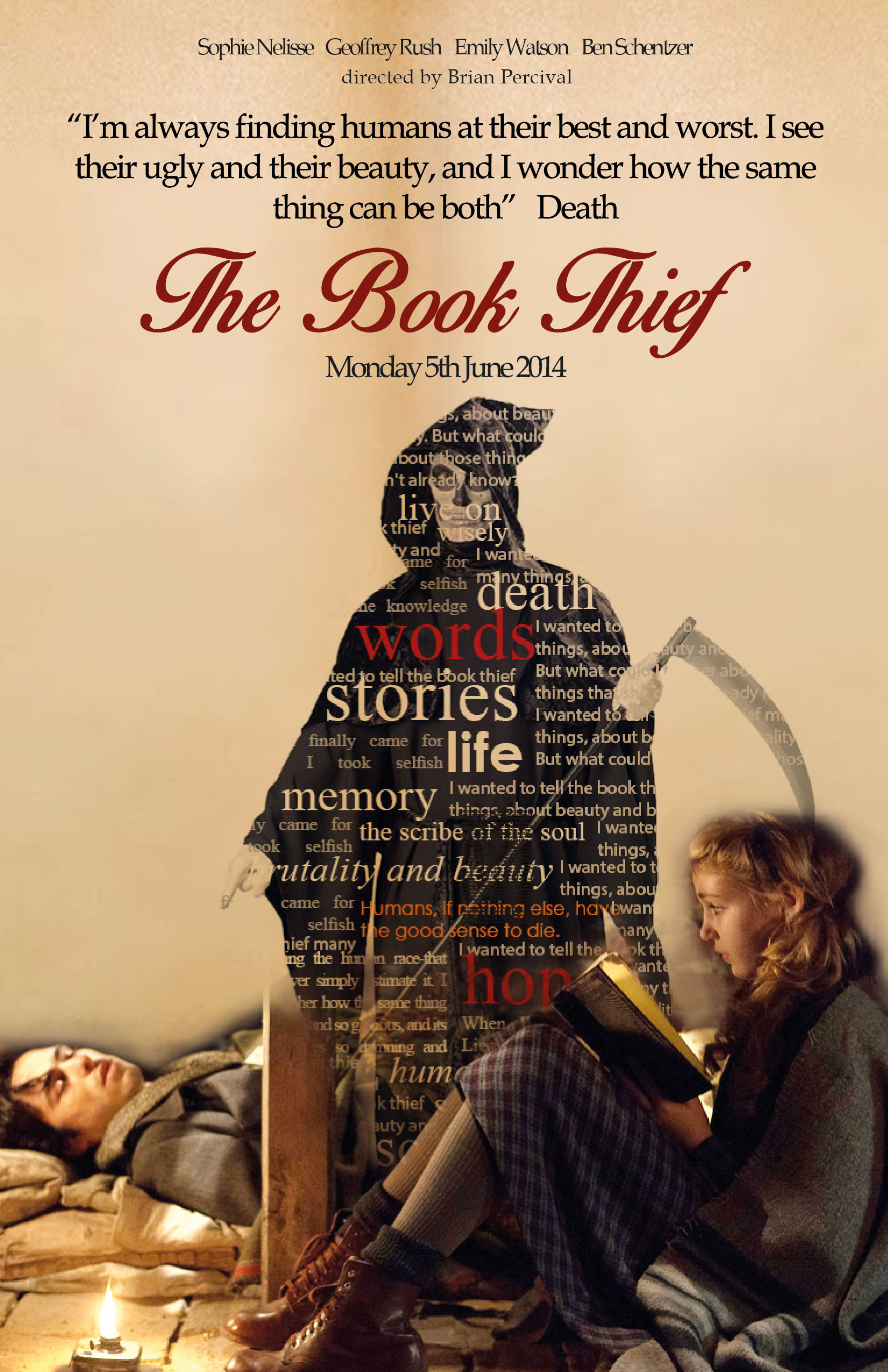 The Book Thief Poster And Brochure