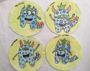 Monster roll dice: Colegio Alameda