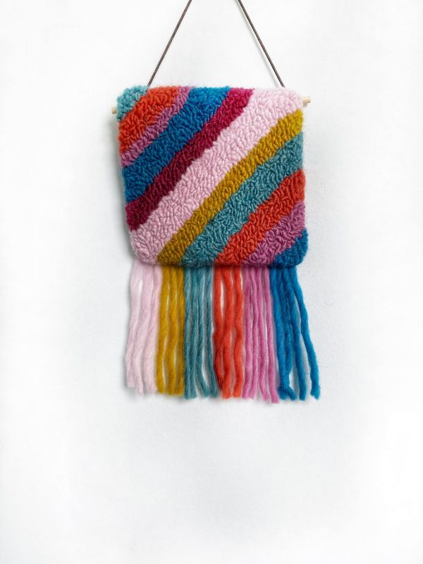 Retro rainbow wall hanging. A pop of colour for any wall.