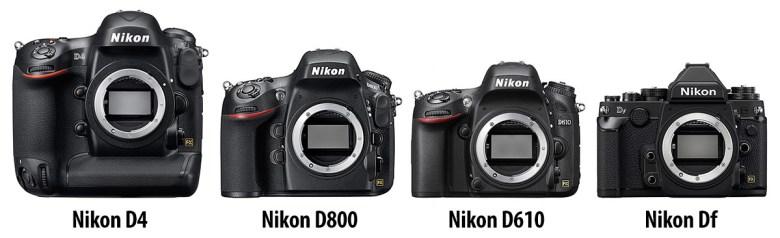 perbandingan-ukuran-Nikon-full-frame-DSLR