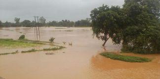 Kangali river over flow
