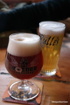 2 lonely yet fab looking beers at Moeder Lambic