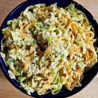 Pasta with Salmon and Avocado