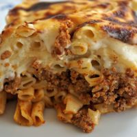 Authentic Greek Pasticcio (Pastitsio)