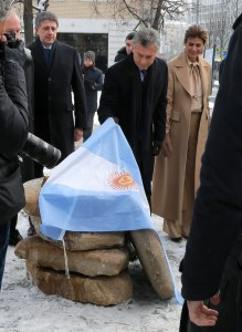 Inauguración de la plaza en Moscú