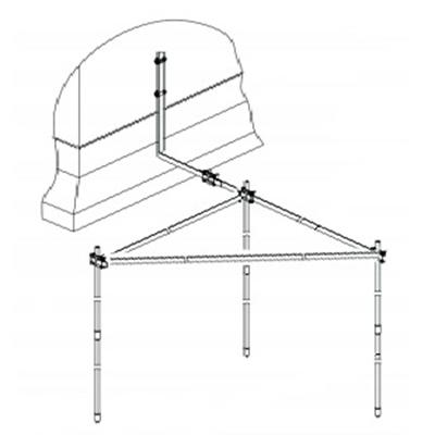 Заземление модульное треугольник
