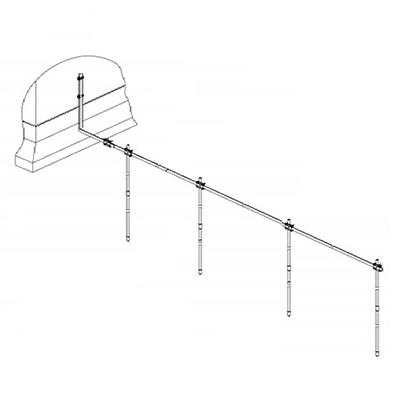 Заземление линейное на 4 штыря