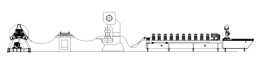 Cable tray roll forming machine layout