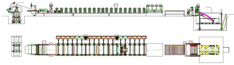 Steel Silo Roll Forming Machine layout