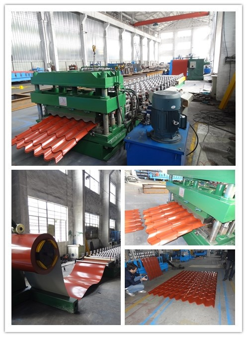 steel tile profile roll forming machine