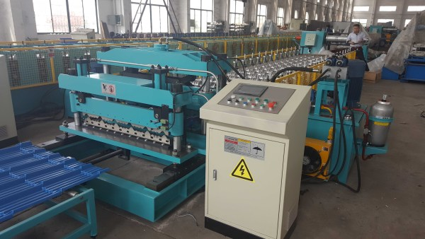 metal glazed tile machine