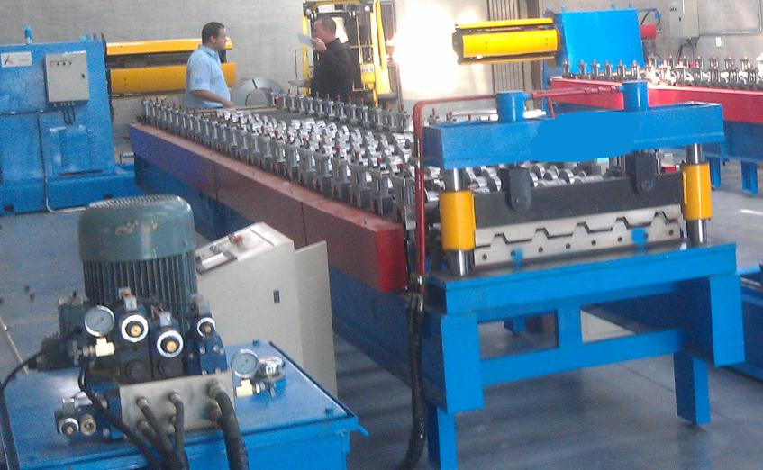 ibr sheet roll forming machine video