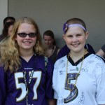 Emily Kolenda at Ravens Trainig Camp