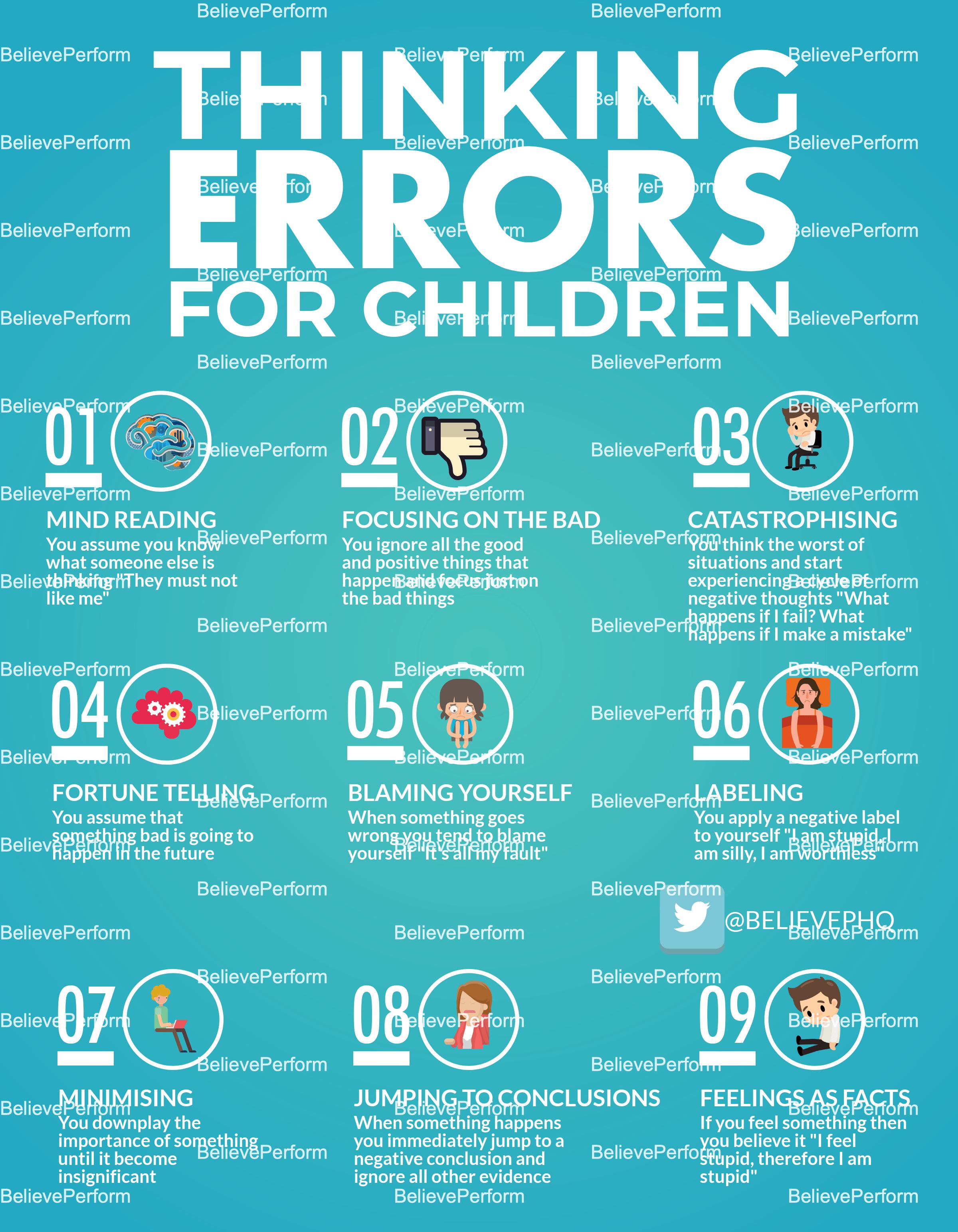 Thinking Errors For Children