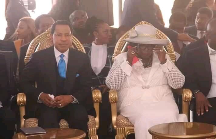 Pastor Chris Oyakhilome with Archbishop Margaret Idahosa, Wife of Bishop Benson Idahosa