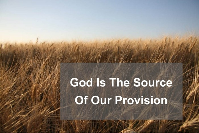 god is our provision