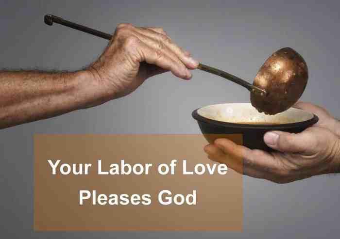 love pleases god