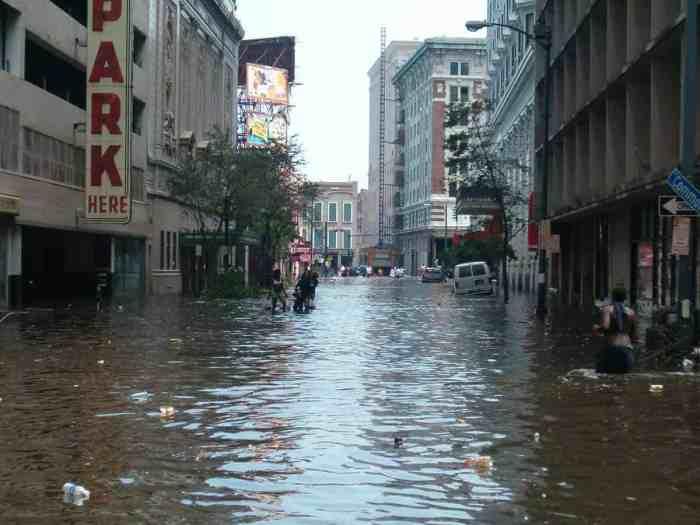 New Orleans CBD after Hurricane Katrina