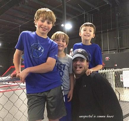Cameron, Carter, Ben and his dad