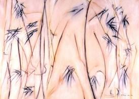kangaroo grass: pigment and acrylic on canvas
