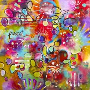 Colourful Inspiring Art Present Moment