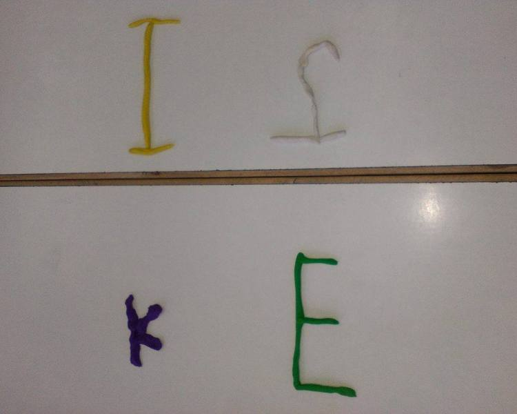 Preliminary 1: Δημιουργώντας γράμματα με πλαστελίνη