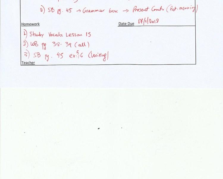 Homework : B class Agia Paraskevi 15/1/18