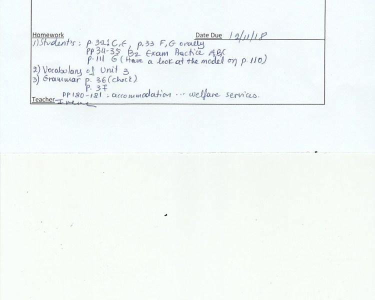 Homework: E/Fc class, Agia Paraskevi 7/11/18