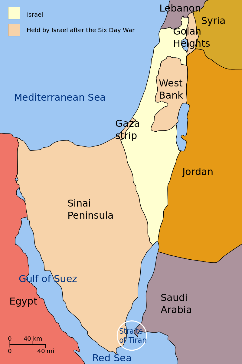 Promised Land Borders Map Showing