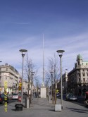 Statue of William Smith O'Brien & Spire of Dublin (O'Connell Street)