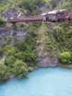 Kawarau Gorge Suspension Bridge above Kawarau River