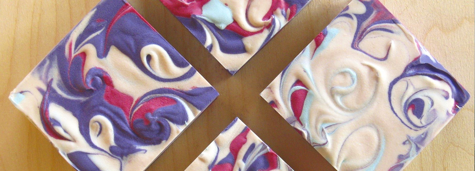 cranberry grape handmade soap
