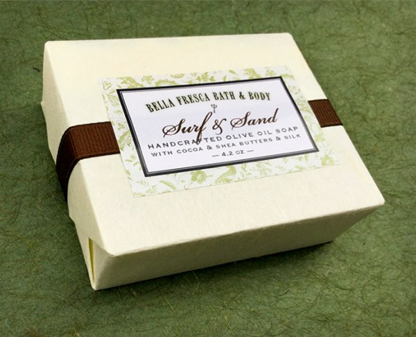 Packaging for Surf & Sand soap