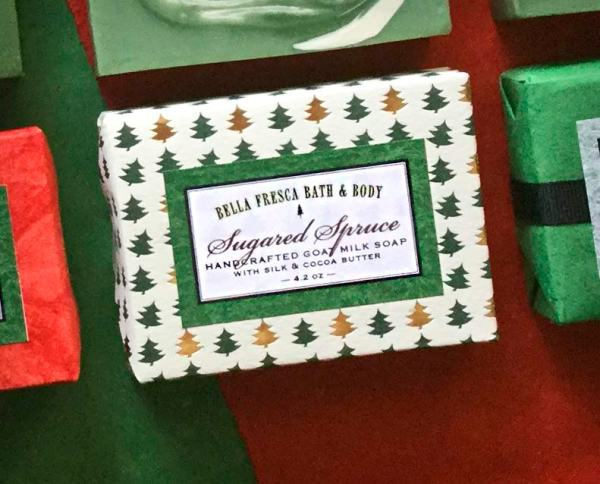 Sugared Spruce soap Package