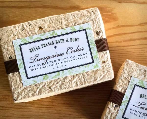 Tangerine Cedar Soap Package