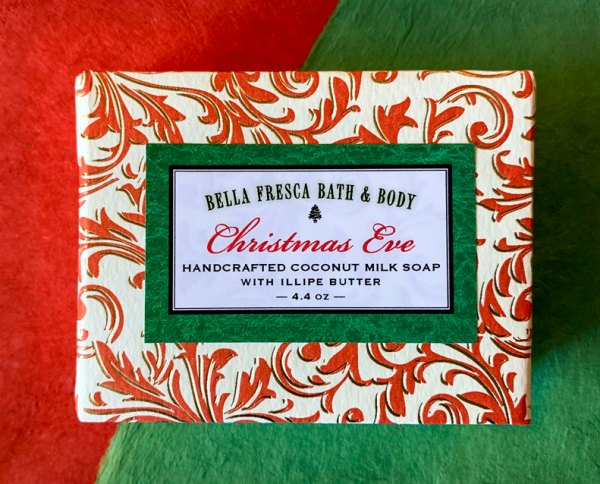 Christmas Eve Soap package