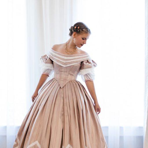 1860's Pink Ballgown