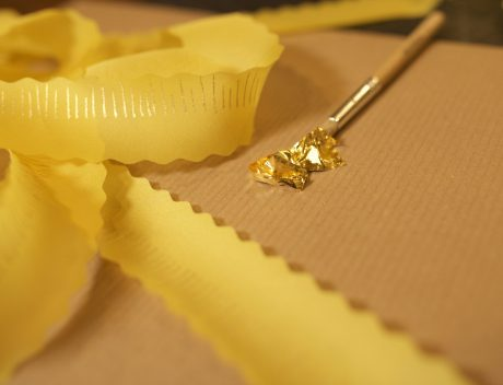 How to Apply Gold Leaf to Silk Fabric – VIDEO Tutorial